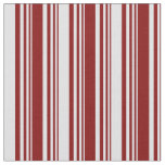 [ Thumbnail: Maroon & Lavender Colored Lines Fabric ]