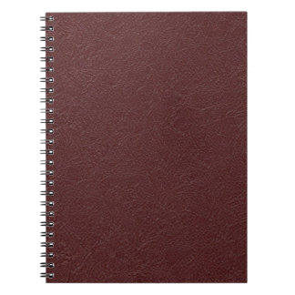 Maroon Leather Spiral Notebook