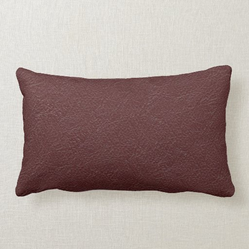 Throw Pillows For Maroon Couch : Maroon Leather Throw Pillow Zazzle
