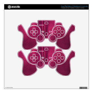 Maroon Leather Winter Boots for Gadgets PS3 Controller Decals