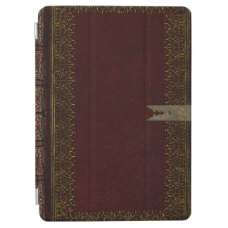 Maroon Leather With Brass Fittings iPad Air Cover