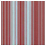 [ Thumbnail: Maroon & Light Blue Stripes/Lines Pattern Fabric ]