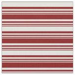[ Thumbnail: Maroon & Light Cyan Colored Stripes Pattern Fabric ]