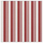 [ Thumbnail: Maroon & Light Cyan Lines Fabric ]