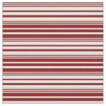[ Thumbnail: Maroon & Light Cyan Lines Pattern Fabric ]