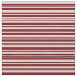 [ Thumbnail: Maroon & Light Gray Colored Lined Pattern Fabric ]