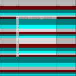 [ Thumbnail: Maroon, Light Gray, Cyan & Dark Cyan Colored Fabric ]