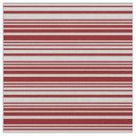 [ Thumbnail: Maroon & Light Gray Stripes Pattern Fabric ]