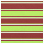 [ Thumbnail: Maroon, Light Green, and Mint Cream Pattern Fabric ]