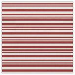 [ Thumbnail: Maroon & Light Yellow Lined/Striped Pattern Fabric ]