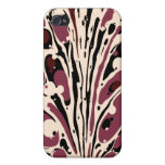 Maroon Marbled iPhone Case Covers For iPhone 4
