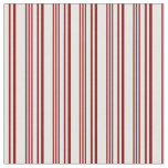 [ Thumbnail: Maroon & Mint Cream Colored Pattern of Stripes Fabric ]