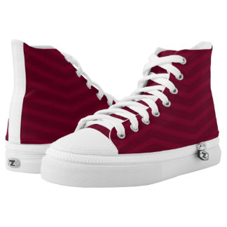 Maroon on Maroon Zigzag High Tops