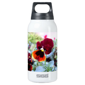 Maroon Orange And Yellow Pansy 10 Oz Insulated SIGG Thermos Water Bottle