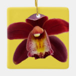 Maroon Orchids I Beautiful Red Floral Ceramic Ornament