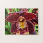 Maroon Orchids I Beautiful Red Floral Jigsaw Puzzle