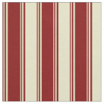 [ Thumbnail: Maroon & Pale Goldenrod Striped Pattern Fabric ]