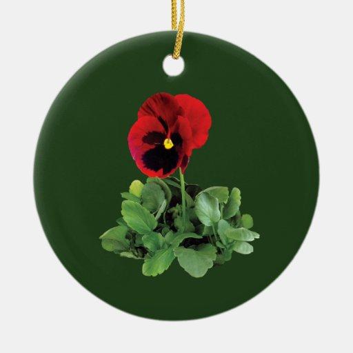 Maroon Pansy Ornaments