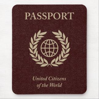 maroon passport mouse pad