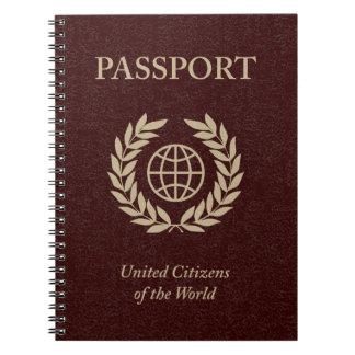 maroon passport note book