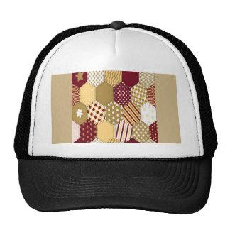 Maroon Pattern Squares Trucker Hat