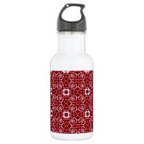 Maroon Pattern Water Bottle