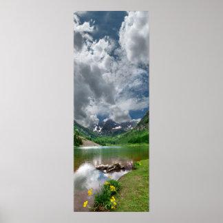 Maroon Peak / Lake in Aspen Colorado Poster