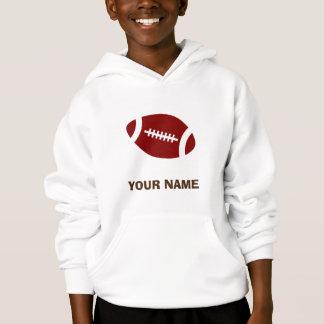 Maroon Personalized Football Hoodie