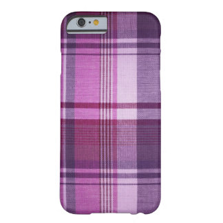 Maroon Plaid Fabric Barely There iPhone 6 Case
