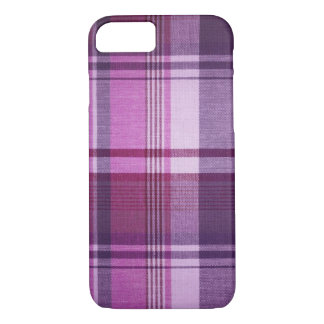 Maroon Plaid Fabric iPhone 7 Case