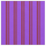 [ Thumbnail: Maroon & Purple Colored Pattern of Stripes Fabric ]