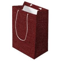 Maroon/Purple Faux Glitter Medium Gift Bag