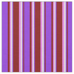 [ Thumbnail: Maroon, Purple, Light Cyan, and Violet Lines Fabric ]
