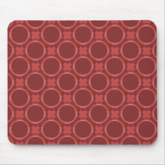 Maroon Quirky Charm Mousepad