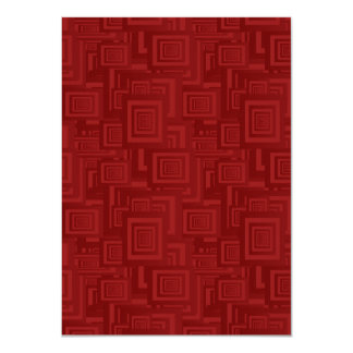 Maroon rectangles card