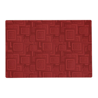 Maroon rectangles placemat