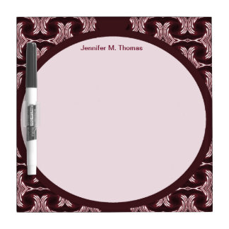 Maroon Red Art Deco Dry-Erase Board