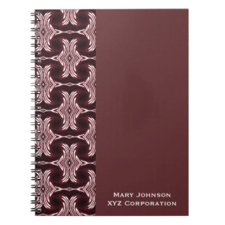 Maroon Red Art Deco Pattern Notebook