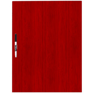 Maroon Red Bamboo Wood Grain Look Dry Erase Board