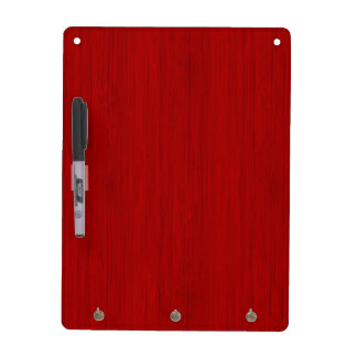 Maroon Red Bamboo Wood Grain Look Dry-Erase Board