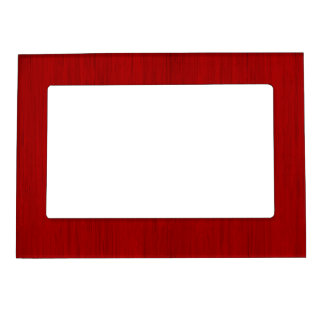 Maroon Red Bamboo Wood Grain Look Magnetic Photo Frame