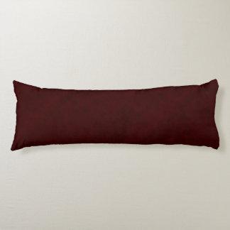 Maroon Red Color Velvet Look Dark Marsala Body Pillow