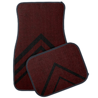 Maroon Red Color Velvet Personalize or Classic Car Floor Mat