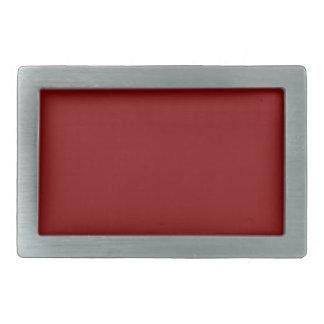 Maroon Red Rectangular Belt Buckle