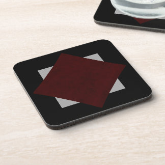 Maroon Red Velvet Personalized Home Casino Beverage Coaster