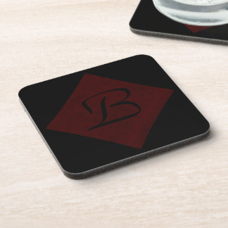 Maroon Red Velvet Personalized Home Casino Coaster