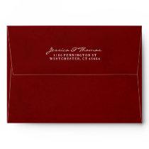 Maroon Red & White Custom Invitation Envelope