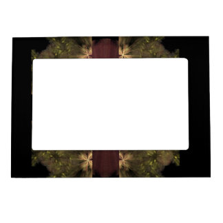 Maroon Ribbon On Green Magnetic Frames