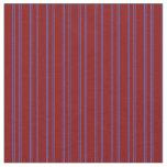[ Thumbnail: Maroon & Royal Blue Lines Pattern Fabric ]