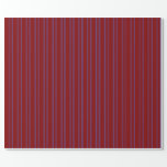 [ Thumbnail: Maroon & Royal Blue Lines Pattern Wrapping Paper ]